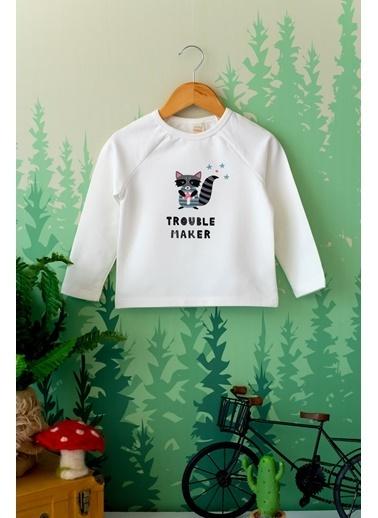 Nou Nou Trouble Maker Mevsimlik Sweatshirt Ekru